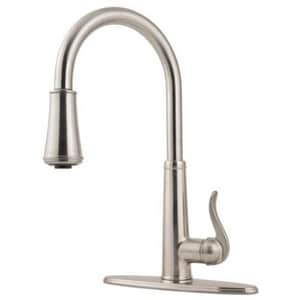 Pfister Ashfield™ 1-Hole Pull-Down Kitchen Faucet with Single Lever Handle in Stainless Steel PF529MYPS