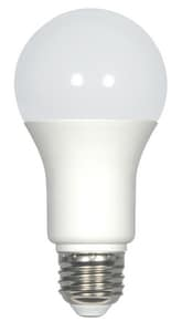 Satco Satco 9.8W A19 LED Bulb Medium E-26 Base 4000 Kelvin 220 Degree Dimmable 120V with Frosted Glass Cool White SS29838