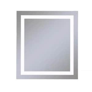 Vitality 30 x 40 in. 4000K Anodized Aluminum Frameless Rectangle Mirror with Light Inset RYM3040RIFPD4