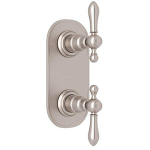 ROHL® Arcana 1/2 in. Thermostatic Diverter and Control Trim Only for R1050BD Rough Valve in Satin Nickel RAC390LMSTNTO