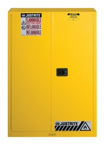 Justrite Sure-Grip® EX Classic Safety Cabinet Yellow 45 gal Manual Close J894500 at Pollardwater