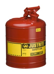 Justrite Type I 5 gal Safety Can with Self Close Lid J7150100 at Pollardwater