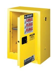 Justrite Sure-Grip® EX Countertop Cabinet Yellow 12 gal Manual Close JUS891200 at Pollardwater