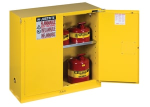 Justrite Sure-Grip® EX Classic Safety Cabinet Yellow 30 gal Self Close J893020 at Pollardwater
