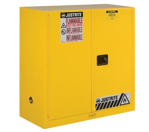 Justrite Sure-Grip® EX Classic Safety Cabinet Yellow 30 gal Manual Close JUS893000 at Pollardwater