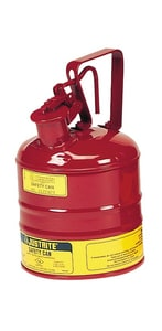 Justrite Type I Safety Can Type I 1 gal with Trigger Handle Self Close Lid J10301 at Pollardwater