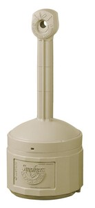 Justrite Cease Fire® Cigarette Butt Receptacle in Adobe Beige J26800B at Pollardwater