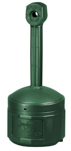 Justrite Cease Fire® Cigarette Butt Receptacle in Forest Green J26800G at Pollardwater