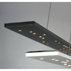 Tech Lighting Parallax 40W Linear Suspension Pendant Light in Black T700LSPRLXBLED