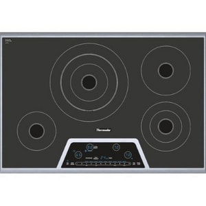 Thermador 31 in. 4-Burner Electric Cooktop in Stainless Steel TCET304NS