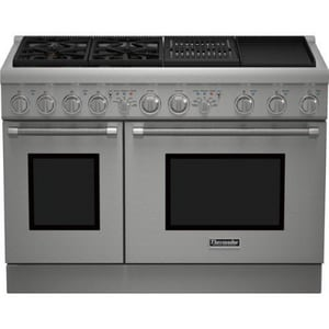 Thermador Pro Harmony® 47-7/8 in. 4-Burner Dual Fuel Range with Griddle and Grill TPRD484NCHU