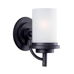 Seagull Lighting Winnetka 13W 1-Light GU24 Base Fluorescent Wall or Bath Sconce in Blacksmith S44660BLE839
