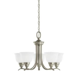 Seagull Lighting Wheaton 24 in. 10W 5-Light Chandelier in Brushed Nickel S31626EN962
