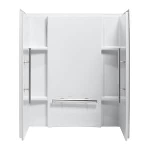 Sterling Accord® 48 x 36 in. Complete Wall Set with Grab Bar in White S72284103V0