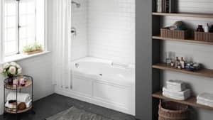 JACUZZI® Majora® 72 x 42 in. Whirlpool Alcove Bathtub Right Drain in White JMJS7242BRXXXXW