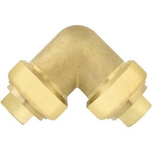 Jones Stephens PlumBite 1-1/2 in. Push 200 psi Brass 90 Degree Elbow JC77429LF at Pollardwater
