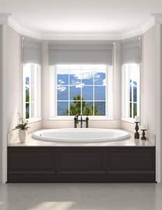 JACUZZI® Signature™ 60 x 42 in. Whirlpool Drop-In Bathtub with End Drain in Oyster JJ4T6042WLR1HXY