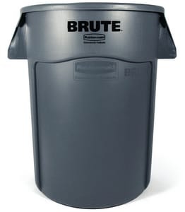 Rubbermaid Brute® 22 in. 32 gal Polyethylene Container in Grey RFG263200GRAY