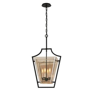Troy Csl Lighting Domain 40w 4 Light Pendant In Forged Iron