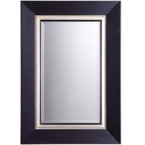 Uttermost Company Whitmore 39-7/8 x 29-7/8 in. Vanity Mirror in Matte Black U14153B