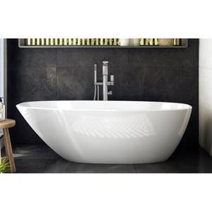 Victoria & Albert Bath Mozzano 2 66-3/8 x 29-7/8 in. Freestanding Bathtub in Quarrycast White VMO2NSWNO