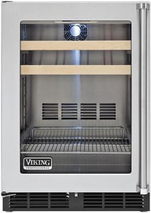Viking Range Under-Counter Beverage Center in Black and Stainless Steel VVBCI5240GLSS
