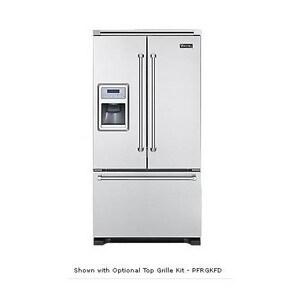 Viking Range 36 in. 19.8 cf Freestanding French Door Refrigerator in Stainless Steel VVCFF136DSS