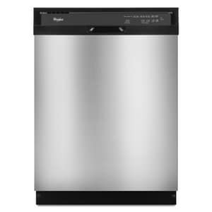 Whirlpool 24 in. 5-Cycle 4-Option Tall Tube Dishwasher in Universal Silver WWDF510PAYD
