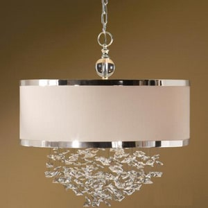 Uttermost Company 100W 3-Light Hanging Shade Pendant in White U21908