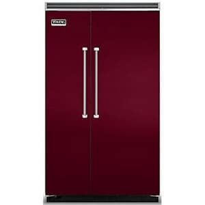 Viking Range Quiet Cool™ 82-3/4 x 48 in. 27.5 cf Built-In Side-By-Side Refrigerator in Burgundy VVCSB5481BU