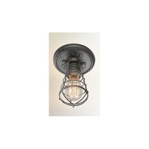 Troy-CSL Lighting Conduit 8-1/4 x 6 in. Ceiling Light Fixture in Old Silver TC3810