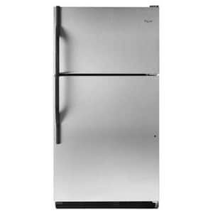 Whirlpool 18 CF Top-Freezer Refrigerator With Humidity-Controlled Crispers in Stainless Steel WWRT138TFYS