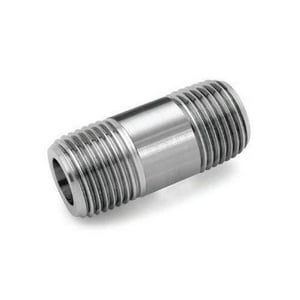 1 x 3 in. Schedule S40 304L Stainless Steel Nipple DS44LNGME