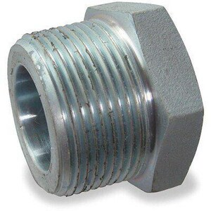 1/2 x 1/4 in. Threaded Reducing Galvanized Forged Steel Hex Bushing GFSTBDBE