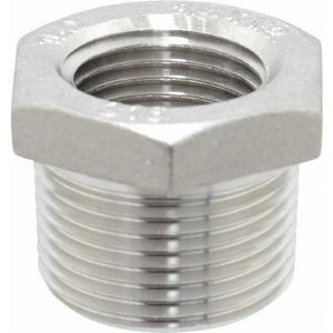 1-1/4 x 1 in. Threaded 3000# 304 Stainless Steel Bushing DS43TB