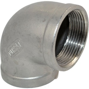 1-1/2 in. Threaded 3000# 316L Stainless Steel 90 Degree Elbow DS6L3T9J