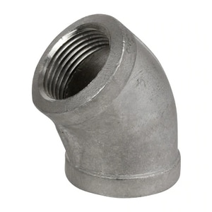 4 in. Threaded Schedule 5 304L Stainless Steel 45 Degree Elbow DS54LW4P