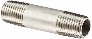 1/2 x 3 in. MNPT Schedule 40 316L Stainless Steel Nipple DS46LNDME