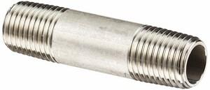 1/2 x 6 in. MNPT Schedule 40 316L Stainless Steel Nipple DS46LNDUE