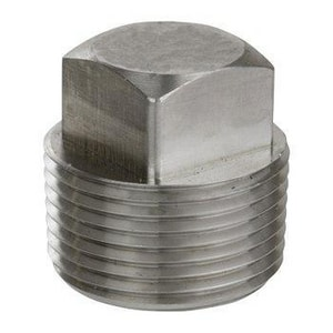 3/4 in. Threaded 3000# 304 Stainless Steel Square Head Plug DS43TSPF