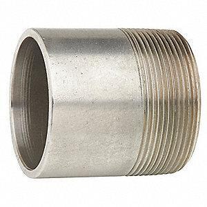 1/2 x 3 in. Schedule 80 304L Stainless Steel Threaded on End Seamless Nipple DS84SNTOEDM