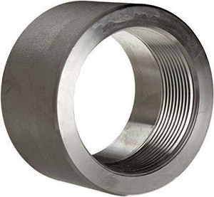 1/2 in. Threaded 6000# 316L Stainless Steel Half Coupling DS6L6THCDE