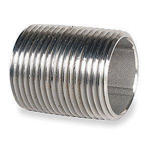 2 in. x Close MNPT Schedule 40 304L Stainless Steel Nipple IS44LNKCLE