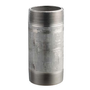 1/4 in. Schedule 40 Straight and Seamless Stainless Steel Nipple IS46SNBCL