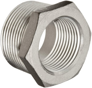 1-1/2 x 1/2 in. Threaded 150# 316 Stainless Steel Bushing IS6BSTBSP114JD