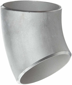 18 in. Butt Weld Schedule 10 316L Stainless Steel Long Radius 45 Degree Elbow IS16LW418