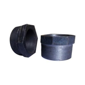 1 x 1/2 in. Reducing Black Zinc Plated Malleable Iron Bushing IBZBGD