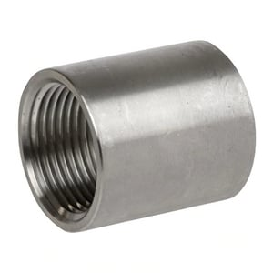 3/4 x 1/8 in. MNPT 150# Reducing 304 Stainless Steel Coupling IS4CTCFA