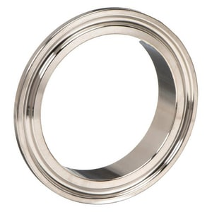 6 in. Clamp x Butt Weld 304L Stainless Steel Short Ferrule G14WMP74U