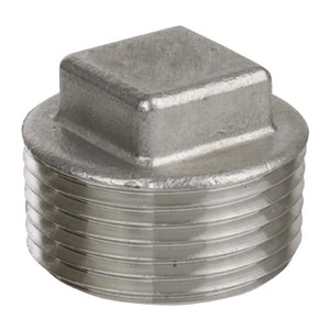 4 in. Threaded 150# 316 Stainless Steel Square Head Plug IS6CTSPSP114P